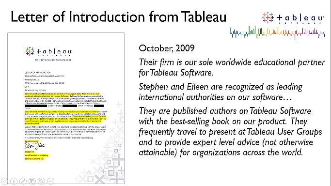 A brief history—Freakalytics and Tableau—since 2008